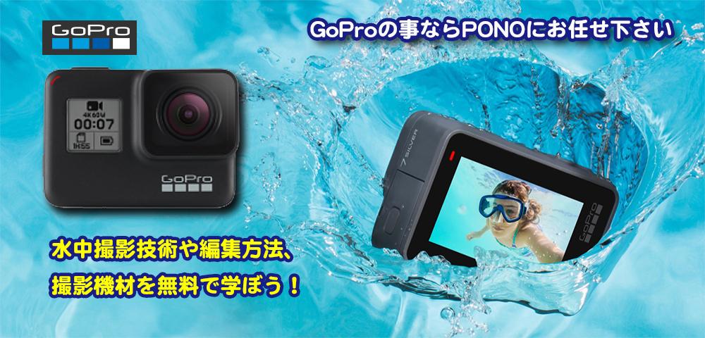 水中撮影GoProテクニック無料講座開催中!